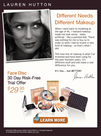 email: Lauren Hutton Facedisc